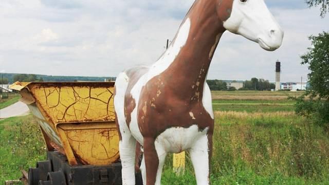 Památník důlního koně.