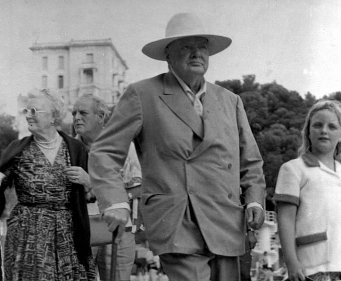 Arabella Spencer Churchill s dědečkem