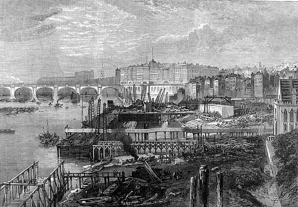 Stavba londýnského nábřeží