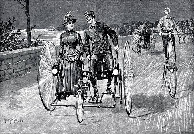 """""""Automobil nemám, ale svezu tě na bicyklu!"""""""