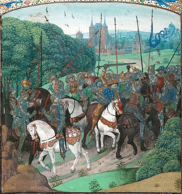 První ataka Karlovy nemoci v lese u Le Mans