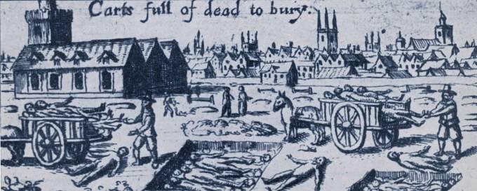 V září 1665 v Londýně napočítali 7000 mrtvých v jediném týdnu.
