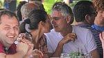 Andrea Bocelli se současnou manželkou
