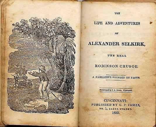 "Kniha o ""opravdovém"" Robinsonu, Alexanderovi Selkirkovi"