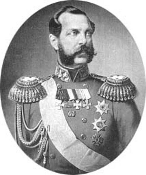 Alexandr II. zrušil v roce 1861 nevolnictví.