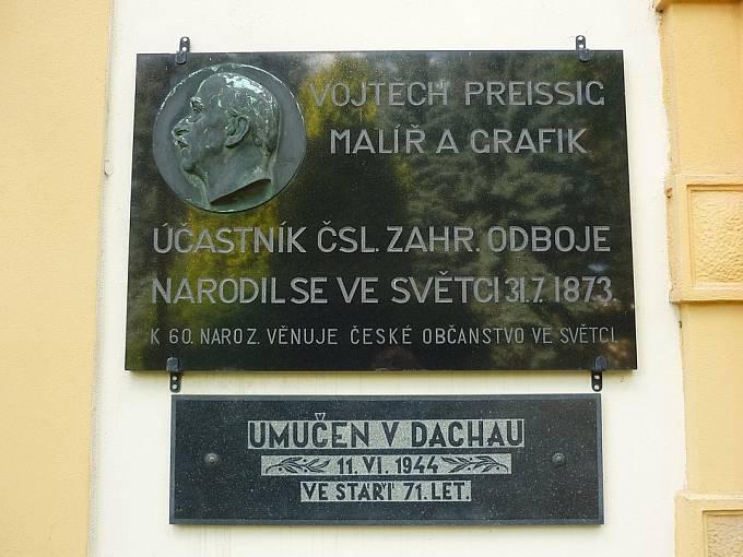 Pamětní deska Vojtěcha Preissiga