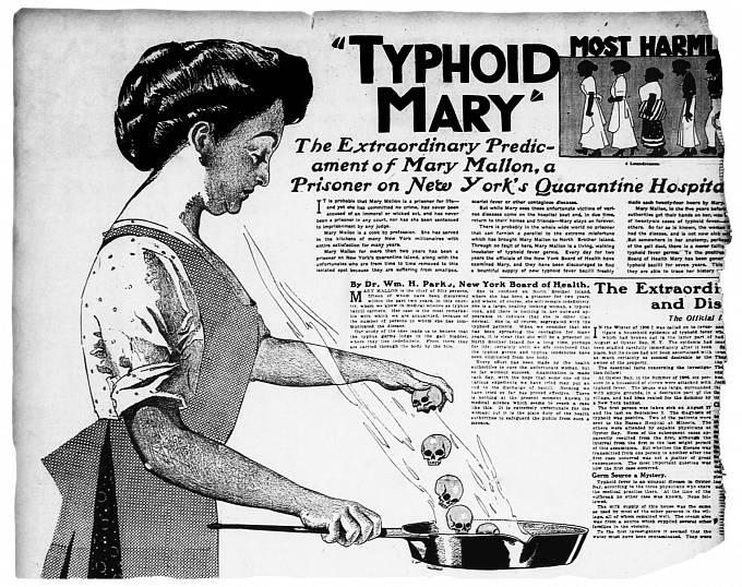 """Mary Mallon (1870–1938) známá jako """"Tyfová Mary"""""""