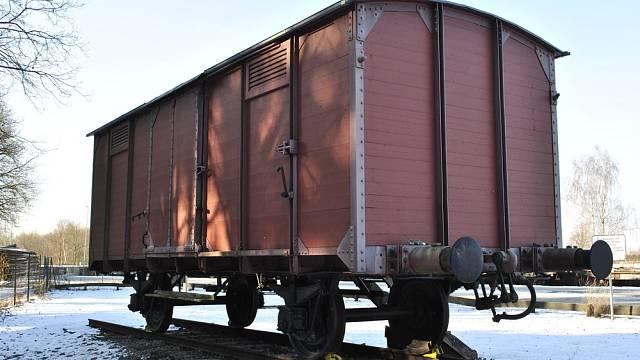Odstavený vagon v Bergen-Belsenu