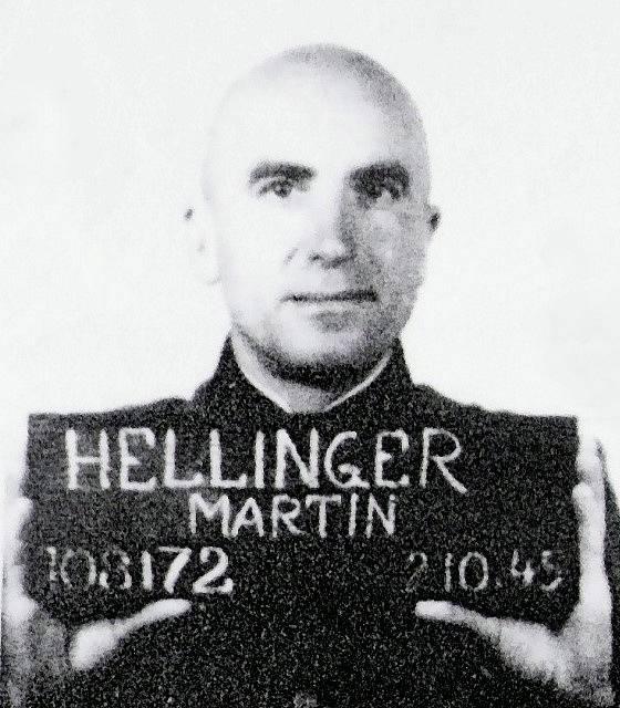 Dr. Martin Karl Hellinger, zubař z koncentračního tábora Ravensbrück. Za zločiny proti lidskosti byl odsouzen k 15 letům odnětí svobody.
