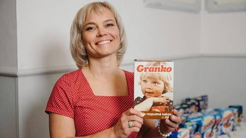 Když ji tatínek přivedli na focení na obal nového výrobku pražských Čokoládoven bylo ji dva a půl roku