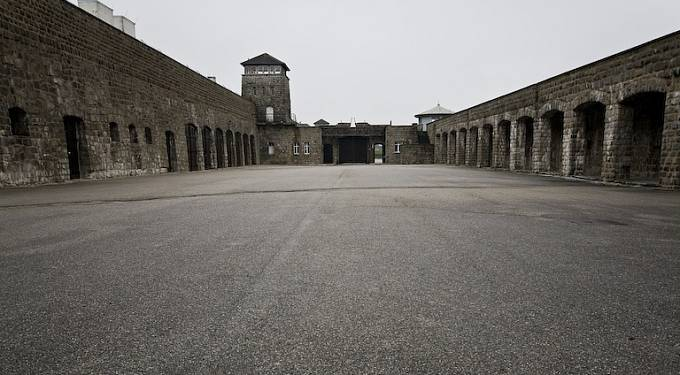 Koncentrační tábor Mauthausen.