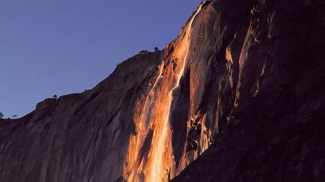 Hořící vodopád, Kalifornie