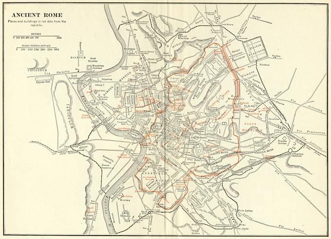 Mapa starověkého Říma.