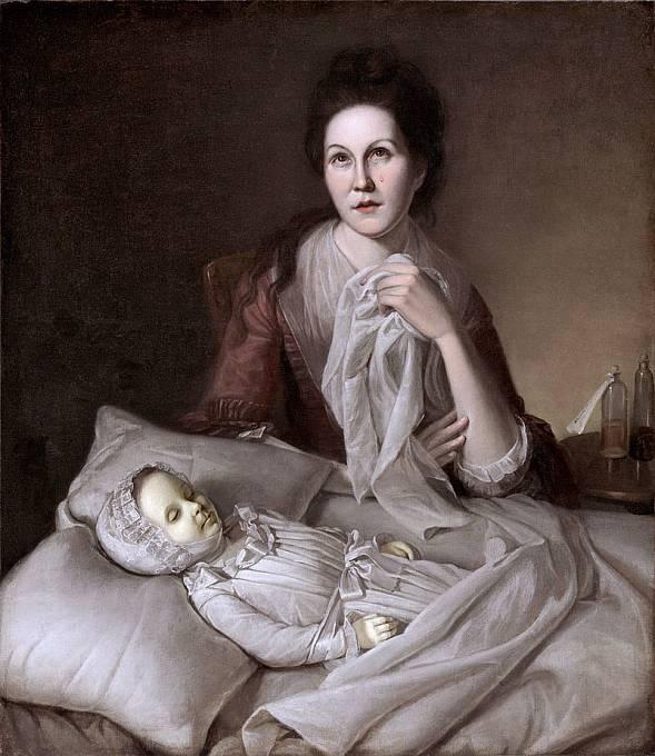 Posmrtné fotografie byly častou předlohou tehdejším malířům.