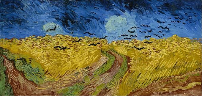 Pole s havrany - Vincent van Gogh