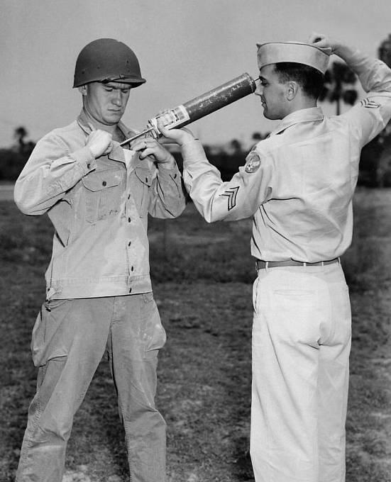 Použití DDT v americké armádě během 2. světové války k ochraně proti malárii nebo tyfu