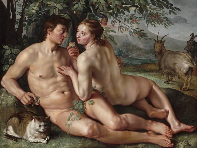 Holandský mistr Hendrick Goltzius zachytil mužské tělo i s jeho nedokonalostmi (1616)