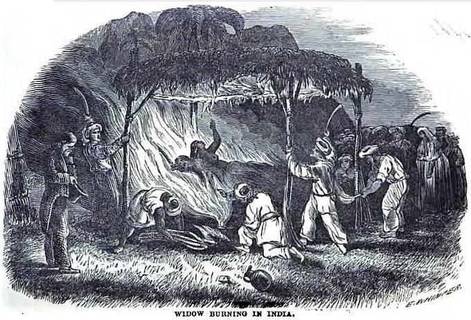 Upálení vdovy v 19. století
