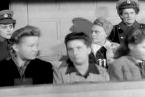 První soudní tribunál s dozorci koncentračního tábora Ravensbrück.