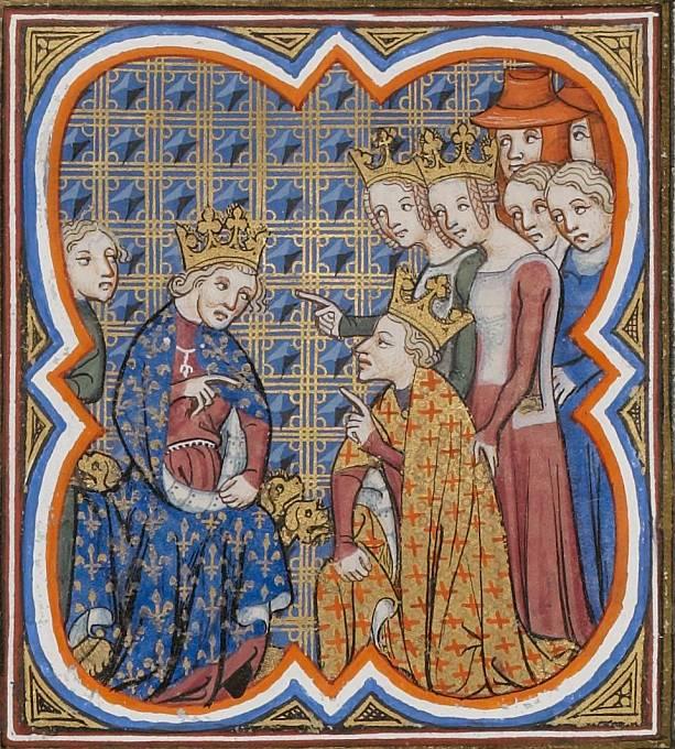 Karel II. prosí svého tchána o odpuštění