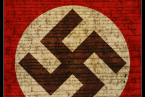 Vlajka Třetí říše, symbol nacistické ideologie.