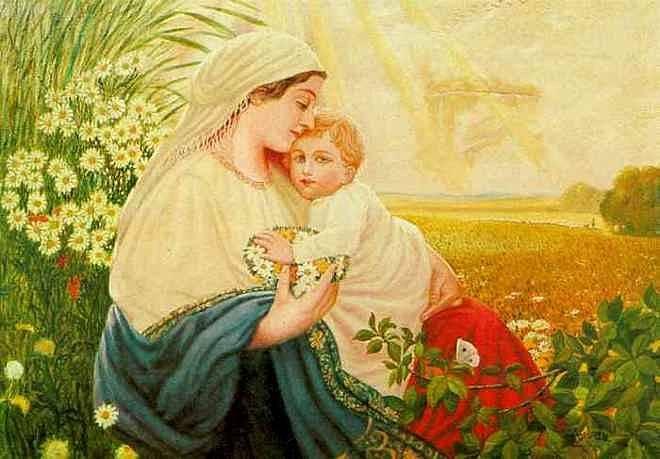 Madonnu s Ježíškem Hitler vyobrazil jako čisté Árijce.