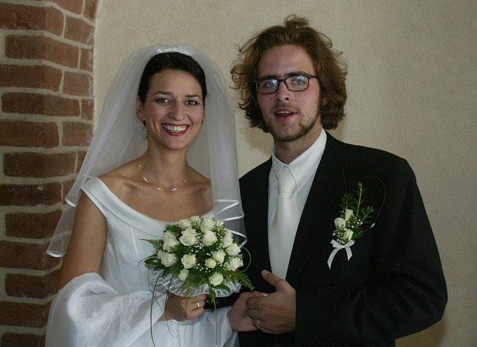 Adéla Gondíková s prvním manželem