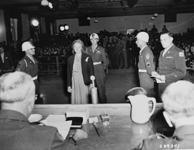 Ilse Koch před soudem roku 1947.