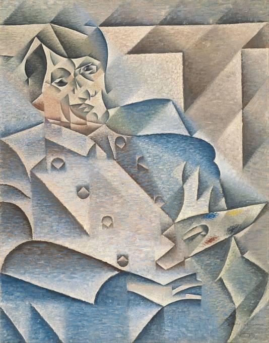 Portrét Pabla Picassa, který namaloval Juan Gris (1912).