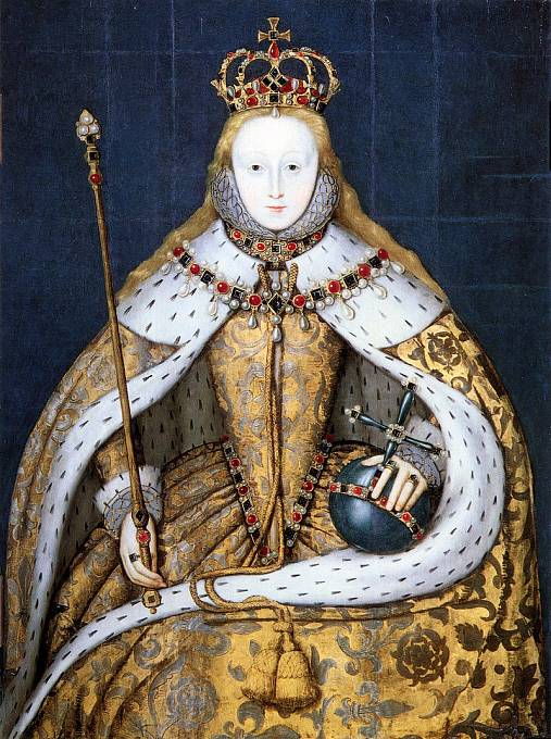 Královna Alžběta I.  při korunovaci