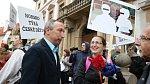 Demonstrace na podporu české rodiny