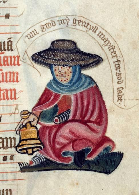 Malomocní museli ve středověku zvonit zvonkem, aby upozornili zdravé na svou přítomnost.