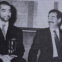 Saddám Husajn se synem Udajem