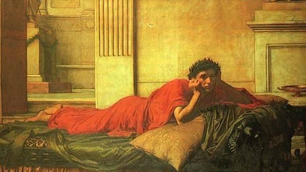 Nero po zavraždění vlastní matky, obraz od Johna Williama Waterhouse