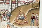 Dva muži odsouzení k upálení za sodomii v Curychu r. 1482