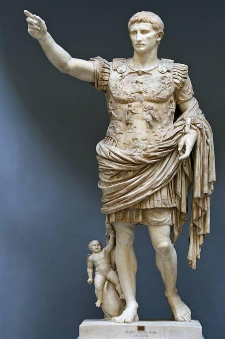 Augustus (Gaius Iulius Caesar Octavianus)  byl prvním císařem římské říše a zakladatelem julsko-klaudijské dynastie.