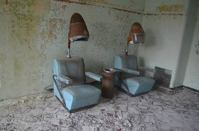 Prostory opuštěného psychiatrického zařízení