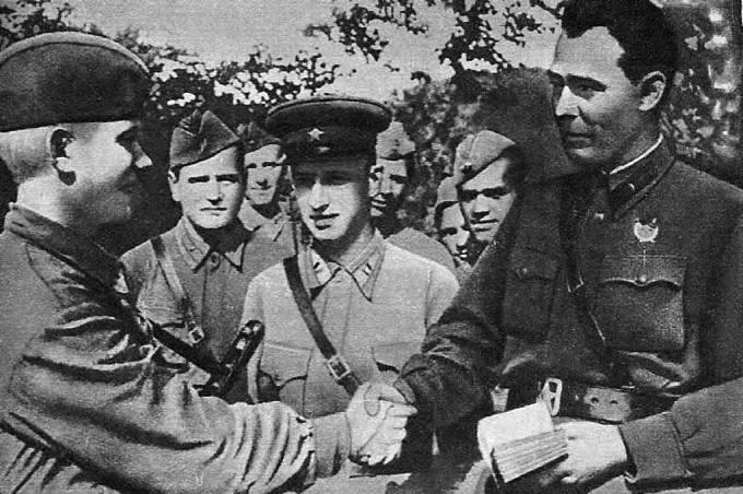 Brežněv na východní frontě během 2. světové války
