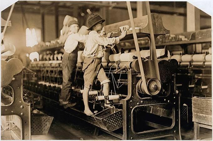 Dětští dělníci v roce 1909