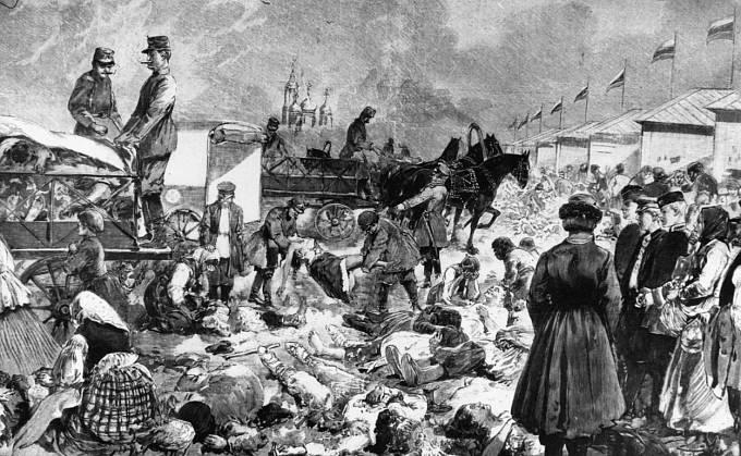 Během korunovace došlo k tragédii na Chodynském poli.