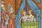 Koupele byly oblíbené i ve středověku.