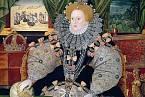 Královna Alžběta I., portrét ukazuje její moc.