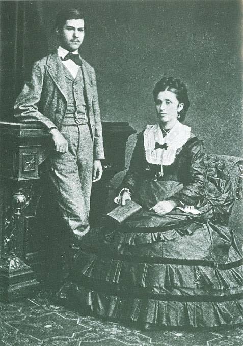 16letý Sigmund Freud se svou matkou