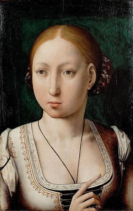 Johana Šílená bývala krásnou dívkou.