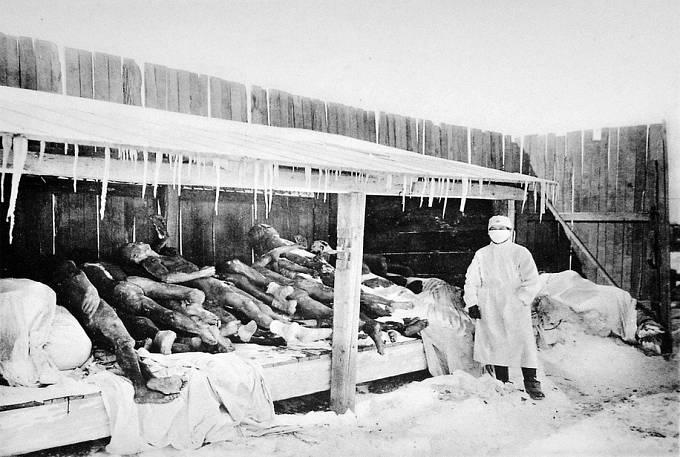 Oběti plicního moru v Mandžusku