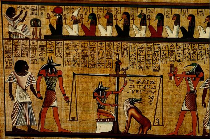 Výjev z Knihy mrtvých