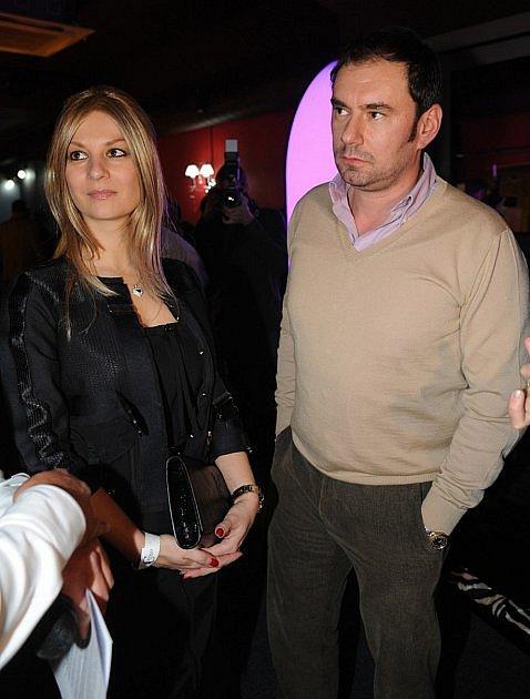 Emanuel Ridi s bývalou manželkou