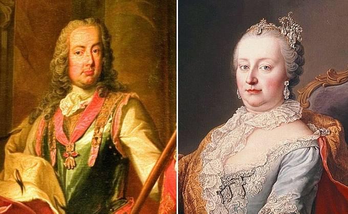 Marie Terezie s manželem Františkem Štěpánem Lotrinským