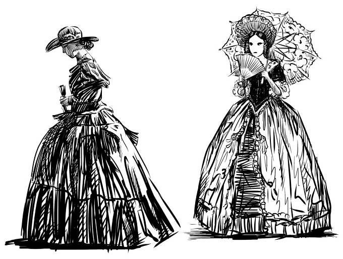 Ženy si na korzety zvykaly od dětství.