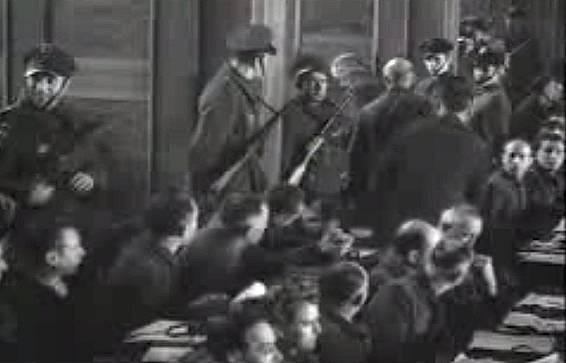 1. soudní proces Osvětim s válečnými zločinci. Rok 1947 Krakow.